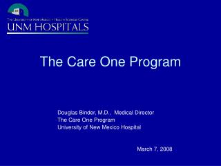 The Care One Program