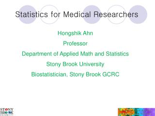 Statistics for Medical Researchers