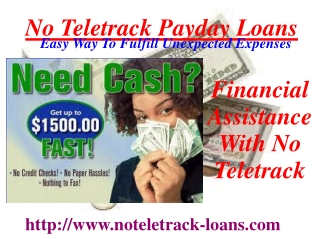 Get No Teletrack Payday Loan Easily
