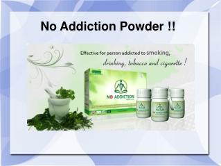No Addiction