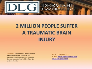 2 Million People Suffer a Traumatic Brain Injury