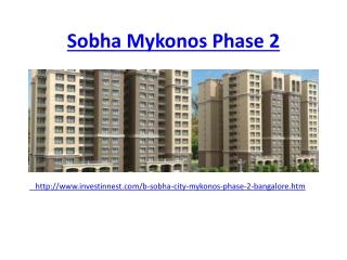 Sobha Mykonos Phase 2