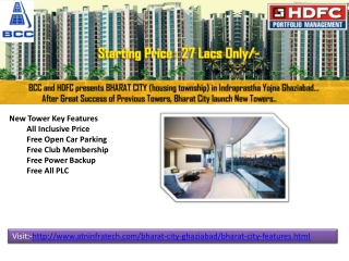 Bharat City apartments starting price 27 lacs
