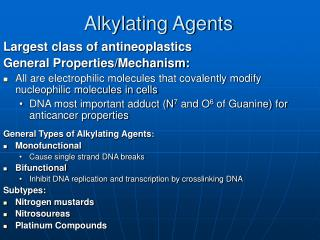 Alkylating Agents