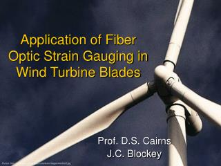 Application of Fiber Optic Strain Gauging in Wind Turbine Blades