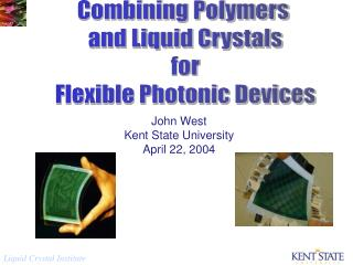 Combining Polymers  and Liquid Crystals  for  Flexible Photonic Devices