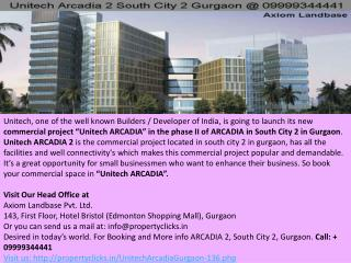 arcadia south city 2, unitech arcadia 2 gurgaon, unitech arcadia 2 gurgaon south city