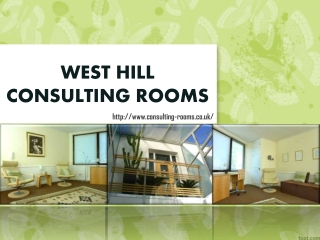 West Hill Consulting Rooms Rental Price List