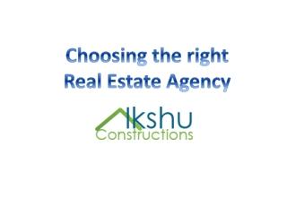 Choosing the Real Estate Agency