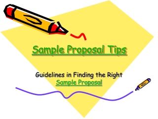 Proposal Sample Tips
