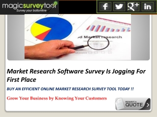 Leading Market Research Software Survey Company