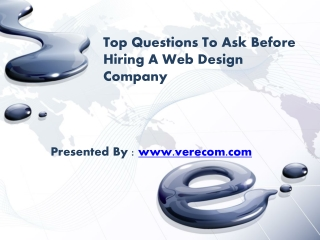 Top Questions To Ask Before Hiring A Web Design Company