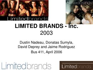 LIMITED BRANDS - Inc. 2003