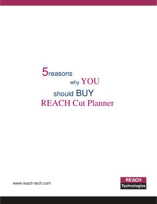 5 reasons why you should buy reach cut planner
