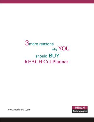 3 reasons  why you should buy reach cut planner