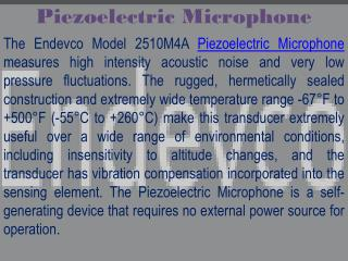 ic-processed piezoelectric microphone