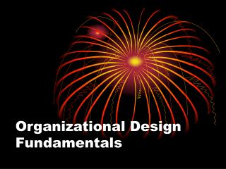Organizational Design Fundamentals