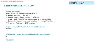 Lesson Planning 01.10 .19