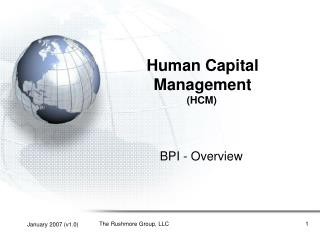 Human Capital Management HCM