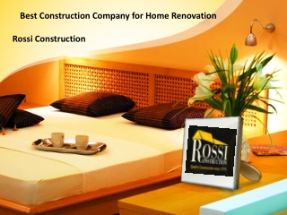 Best Construction Company for Home Renovation