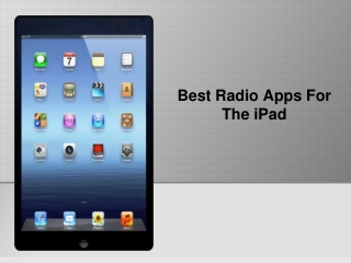 Best Radio Apps For The iPad