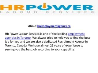 Employment Agency Toronto