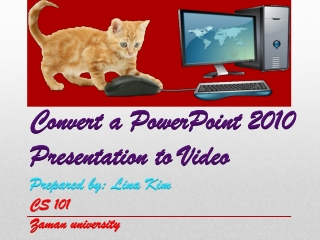 How to Convert PowerPoint Presentation 2010 to Video