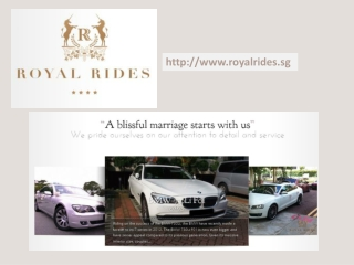 Car Rental for Wedding