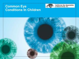 Common Eye  Conditions In Children