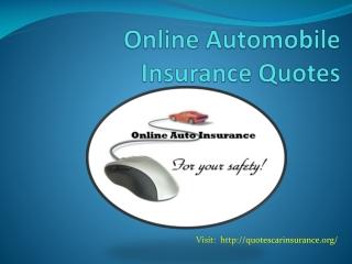 Online Automobile Insurance Quotes
