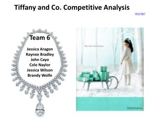 Tiffany and Co. Competitive Analysis