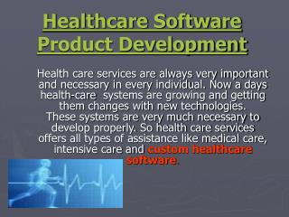 offshore healthcare software product development