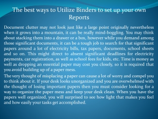 Binders for school