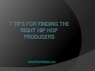 The Hip Hop Producer
