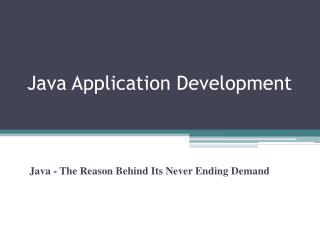 java - the reason behind its never ending demand