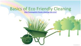 love our environment:  eco friendly cleaning