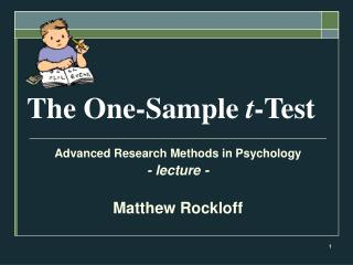 The One-Sample  t -Test