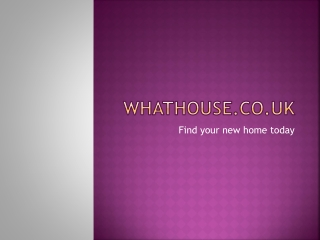 What House - New houses for sale