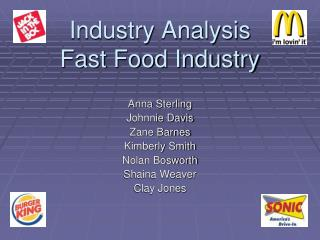 Industry Analysis Fast Food Industry