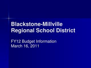 Blackstone-Millville Regional School District