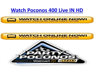 Poconos 400 Live Stream FOX Special HQD Racing Online Sunday