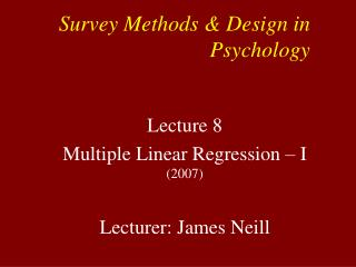 Survey Methods & Design in Psychology