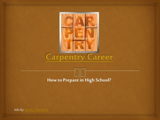 Carpentry Career