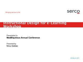 Instructional Design for e-Learning