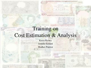 Training on  Cost Estimation & Analysis