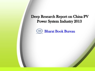 2013 Deep Research Report on China PV Power System Industry