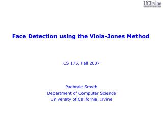 Face Detection using the Viola-Jones Method