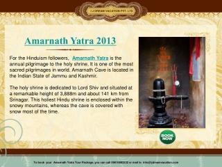 Amarnath Yatra 2013
