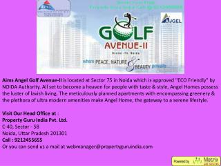 aims angel golf avenue 2, angel golf avenue 2 noida, angel golf avenue price list