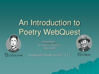 An Introduction to Poetry WebQuest